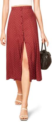 Reformation Hermosa Button Up Midi Skirt