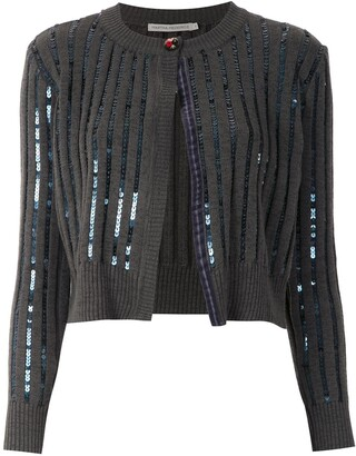 Martha Medeiros cropped knitted cardigan