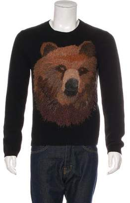 Gucci 2016 Wool Embroidered Bear Sweater w/ Tags