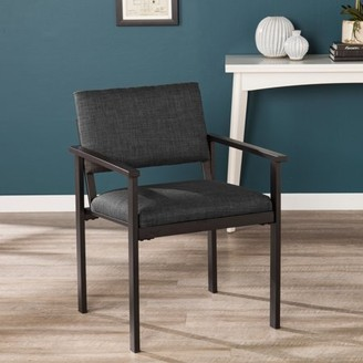 Mid-Century MODERN Southern Enterprises Straford Upholstered Armchair, Midcentury Modern, Gray
