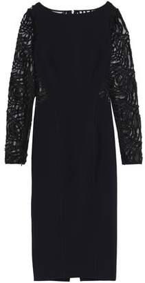 Amanda Wakeley Fil Coupé-Paneled Jersey Dress