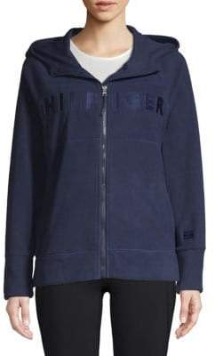 Tommy Hilfiger Embroidered Zip-Front Hoodie