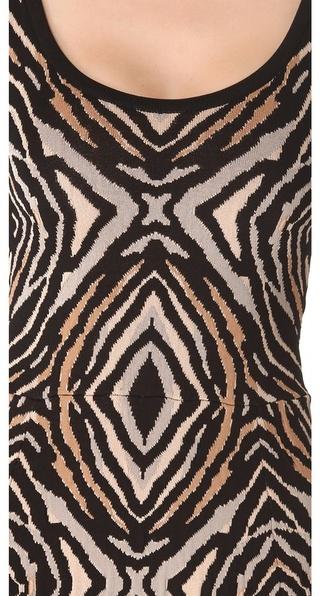 Torn By Ronny Kobo Luciana Zebra Dress