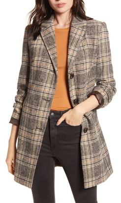 Maralyn & Me Plaid Button Front Coat