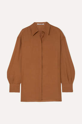 Agnona Wool And Cashmere-blend Shirt - Brown