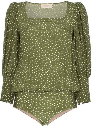 Adriana Degreas Mille Punti puffed sleeve top