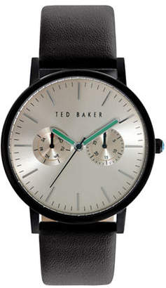 Ted Baker Mens Multifunction Leather Strap Watch 10024529
