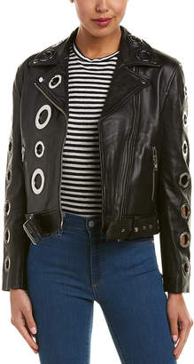 KENDALL + KYLIE Leather Grommet Jacket