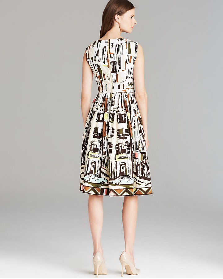 Kate Spade Scoop Neck Landscape Dress