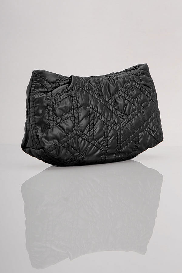 Quilted Nylon Cosmetic Bag