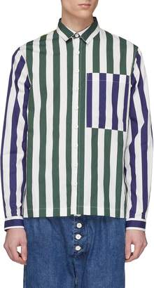 Sunnei Colourblock stripe chest pocket shirt