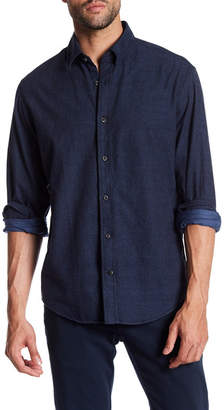 James Campbell Tesoro Chambray Long Sleeve Regular Fit Shirt