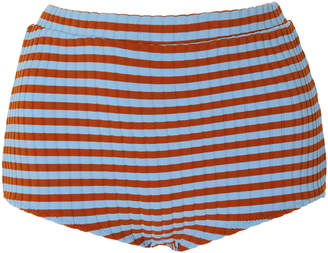 Solid & Striped Jamie Ribbed High-Rise Bikini Bottom