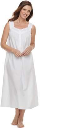 Croft & Barrow Women's Crochet Long Nightgown