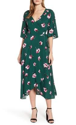 Bobeau Orna High/Low Wrap Dress