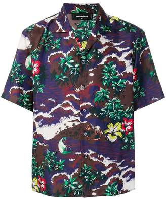 DSQUARED2 tropical printed shirt