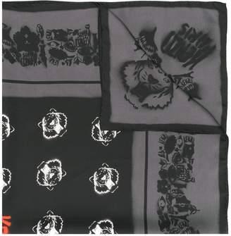 Kenzo Tiger patch neck scarf