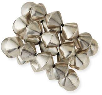 Nest Jewelry Silver Cone Stretch Bracelets, Set of 3