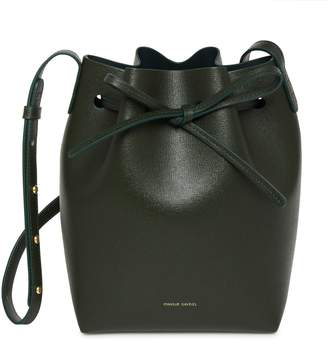 Mansur Gavriel Saffiano Mini Bucket Bag - Moss