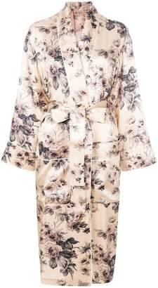 No.21 floral wrap coat