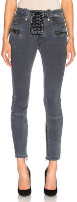 Unravel for FWRD Lace Up Skinny Jeans