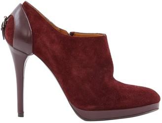 Ralph Lauren Red Suede Boots