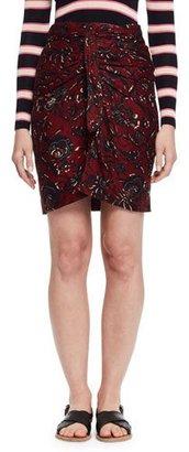 Etoile Isabel Marant Jayda Floral Wrap Skirt, Burgundy/Gray $170 thestylecure.com