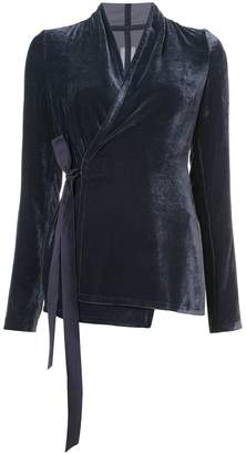 Rick Owens velvet wrap jacket