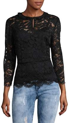 Marc by Marc Jacobs Women's Embroidered Floral Lace Blouse