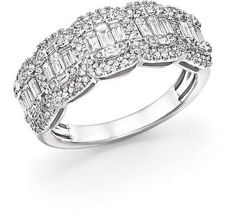 Bloomingdale's Diamond Round & Baguette Band in 14K White Gold, 1.0 ct. t.w. - 100% Exclusive