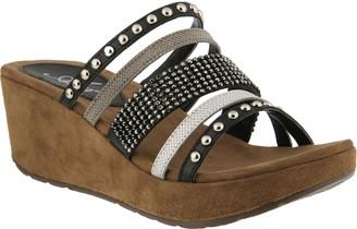 Spring Step Azura by Embellished Leather Slides- Oletha