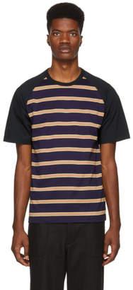 Comme des Garcons Homme Multicolor Horizontal Stripe T-Shirt