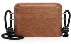 The Row Rope Strap Wooden Minaudiere Bag