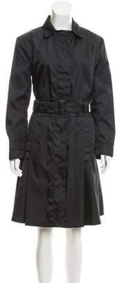 Prada Lightweight Belted Coat