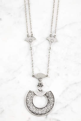 Chanour Pewter Statement Pendant Necklace