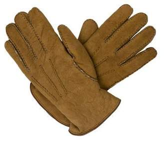 Valentino Suede Shearling-Lined Gloves