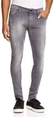 G-STAR RAW Revend Super Slim Fit Jeans in Light Aged $190 thestylecure.com