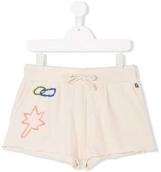 Bellerose Kids TEEN stitched detail track shorts
