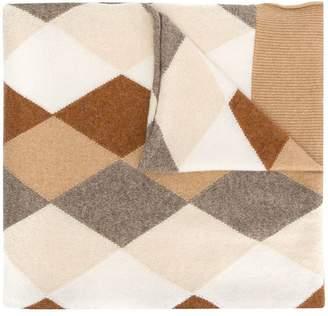 Pringle argyle intarsia scarf