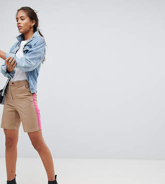Asos Tall Asos Design Tall City Shorts With Side Stripe