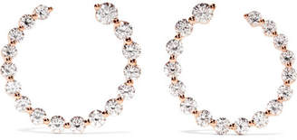 Anita Ko Garland 18-karat Rose Gold Diamond Hoop Earrings
