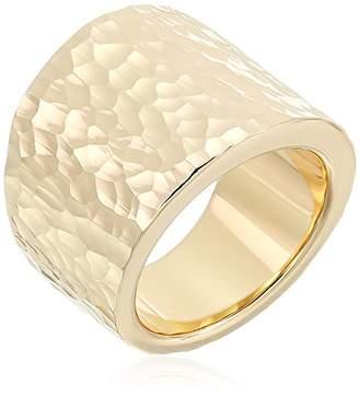 14K Gold Nano Diamond Resin Hammered Ring