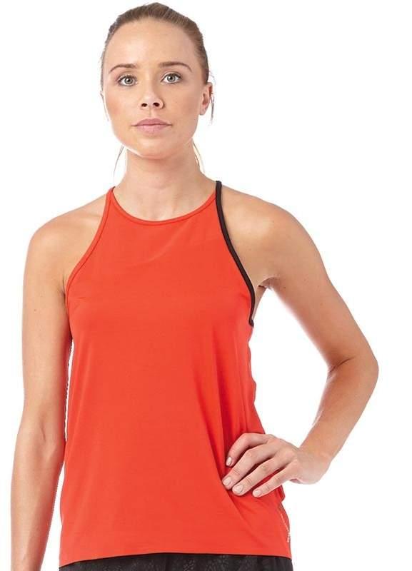 Damen Cardio Slim Fit Top Rot