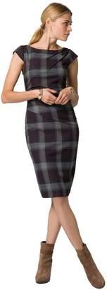 Le Château Women's Check Print Cap Sleeve Sheath Dress,XL