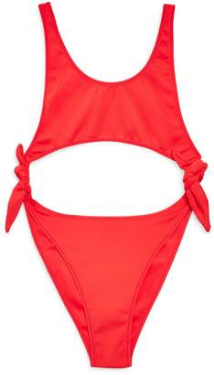 Topshop Split Tie Swimsuit
