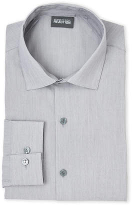Kenneth Cole Reaction Grey Frost Stretch Slim Fit Dress Shirt