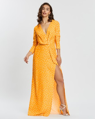 Missguided Tall Wrap Front Maxi Dress