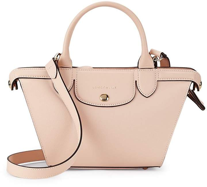 Longchamp Women's Le Pliage-Heritage Leather Crossbody Tote