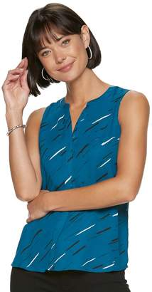 Apt. 9 Women's Pleat Back Sleeveless Essential Blouse