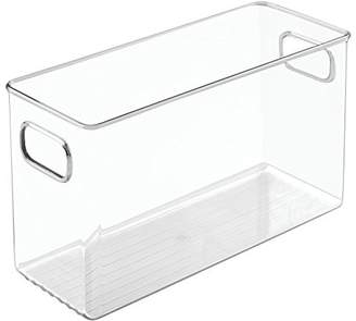 InterDesign Linus Storage/Organiser Box with Handles, Made of Plastic, Clear, Large
